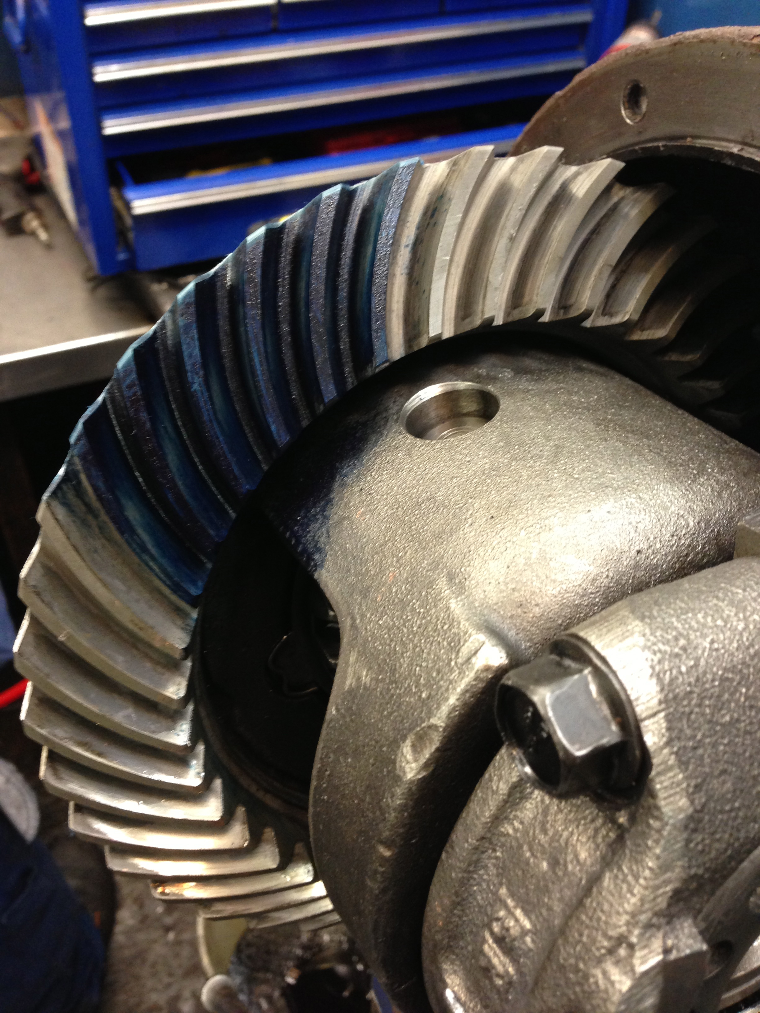 Differential Engineers Blued-up For Correct Setting