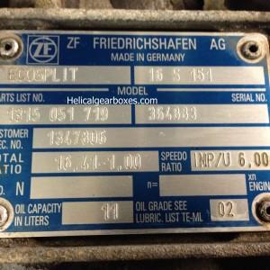ZF Ecosplit 16 speed